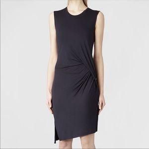 All Saints Marilla Asymmetric Hem Dress Black US/8